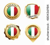 made in italy. collection of... | Shutterstock .eps vector #480436984