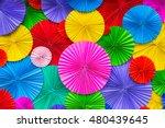 abstract wallpaper rainbow... | Shutterstock . vector #480439645