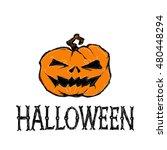 halloween vector illustration.... | Shutterstock .eps vector #480448294
