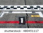 motor sport starting line pole... | Shutterstock . vector #480451117