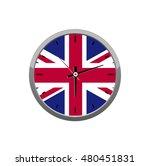 flag on wall clock | Shutterstock .eps vector #480451831