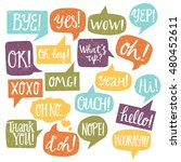 hand drawn set of motley speech ... | Shutterstock .eps vector #480452611