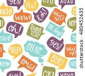 hand drawn seamless pattern... | Shutterstock .eps vector #480452635