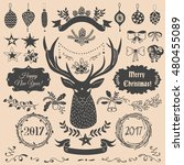vector christmas and new year... | Shutterstock .eps vector #480455089