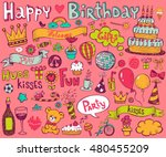 set of colorful birthday... | Shutterstock .eps vector #480455209