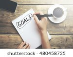 Goals Memo Written On A...