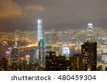 hong kong skyline and victoria... | Shutterstock . vector #480459304