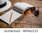 travel accessories  hat ... | Shutterstock . vector #480462115