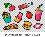 vector colorful quirky patches... | Shutterstock .eps vector #480464185