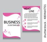 vector brochure flyer design... | Shutterstock .eps vector #480464701