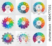 set of 9 circle infographic... | Shutterstock .eps vector #480477331