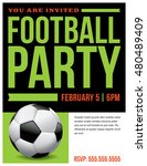 a flyer for a soccer football... | Shutterstock . vector #480489409