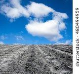 plowed field against the sky | Shutterstock . vector #480494959