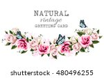 natural vintage greeting frame... | Shutterstock .eps vector #480496255