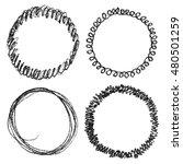 set of hand drawn scribble... | Shutterstock . vector #480501259
