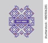 retro design luxury insignias...   Shutterstock .eps vector #480506281