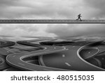 pathway to freedom and concept... | Shutterstock . vector #480515035