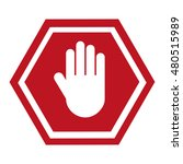 stop signal classic isolated... | Shutterstock .eps vector #480515989