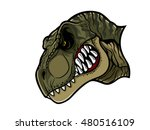 cartoon t rex who was very... | Shutterstock .eps vector #480516109
