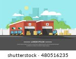 flat horizontal banners with...   Shutterstock .eps vector #480516235