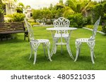 Green Garden And White Table