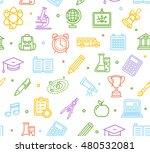 school background pattern with... | Shutterstock . vector #480532081