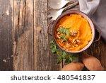sweet potato puree | Shutterstock . vector #480541837