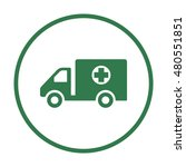 truck  icon. flat design.