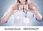 double exposure  doctor holding ... | Shutterstock . vector #480554629
