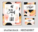 hand drawn vector abstract... | Shutterstock .eps vector #480560887