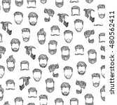 man hairstyle. seamless pattern.... | Shutterstock .eps vector #480562411