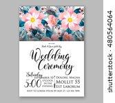 romantic pink peony bouquet... | Shutterstock .eps vector #480564064