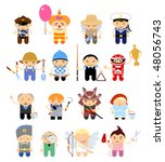 set of cartoon characters.... | Shutterstock .eps vector #48056743