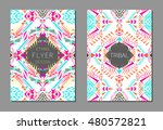 vector set of geometric... | Shutterstock .eps vector #480572821