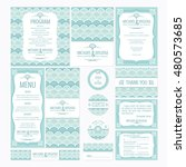 set of wedding cards with... | Shutterstock .eps vector #480573685