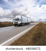 freight truck on the road | Shutterstock . vector #48058072