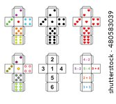 a set of six variants of dice... | Shutterstock .eps vector #480583039