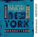 new york typography  t shirt... | Shutterstock .eps vector #480591019