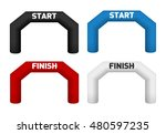 inflatable arch illustrations.... | Shutterstock .eps vector #480597235