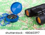 travel north map direction...   Shutterstock . vector #48060397