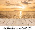 tropical beach in sunset with...   Shutterstock . vector #480608959