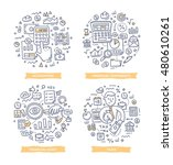 doodle vector illustrations of... | Shutterstock .eps vector #480610261