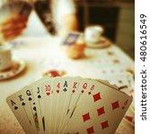the bridge cards game. | Shutterstock . vector #480616549