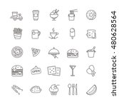fast food icons   stock set for ... | Shutterstock .eps vector #480628564