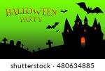 halloween party banner | Shutterstock .eps vector #480634885