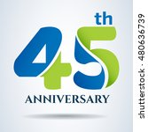 45th years anniversary label... | Shutterstock .eps vector #480636739