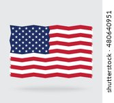 usa flag zigzag isolated on... | Shutterstock .eps vector #480640951