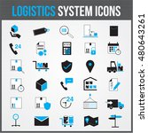 logistic system vector icon... | Shutterstock .eps vector #480643261