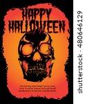 halloween poster skull   Shutterstock .eps vector #480646129