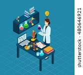 scientific research in... | Shutterstock . vector #480646921